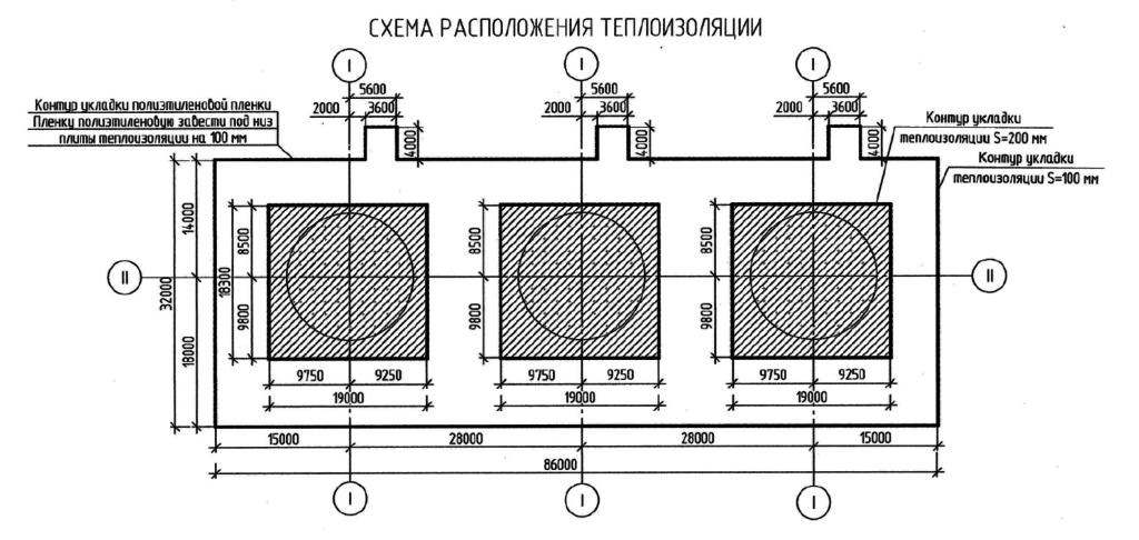 Установка расходных резервуаров метанола. Схема теплоизоляции