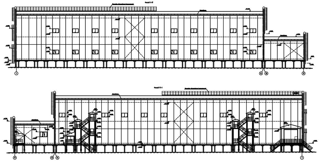 Здание 75х18м. Общий вид