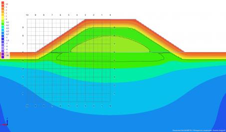 Расчет температур грунтов в основании дорожной насыпи в программе Борей 3D